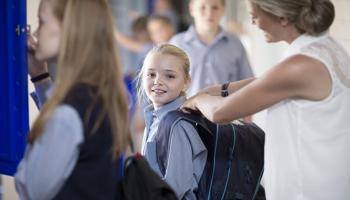 Back to School Kids Bags and Backpain